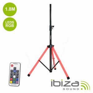 Suporte P/ Colunas C/ LED RGB 1.8m 30kg IBIZA - (SS03-LED)