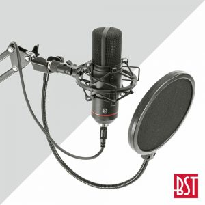 Microfone Condensador De Estúdio BST - (STM300-PLUS)