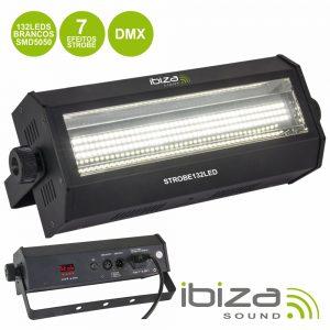 Estroboscópio C/ 132 LEDS SMD 5050 60W DMX IBIZA - (STROBE132LED)