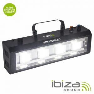 Estroboscópio C/ 4 LEDS Cob 80W IBIZA - (STROBE80LED)
