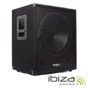 """Grave SubWoofer Bi-Amplificado 18"""" 1200W IBIZA - (SUB18A)"""