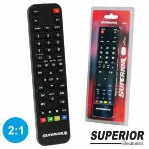 Comando TV Programável 2:1 Superior - (SUP2:1RC)