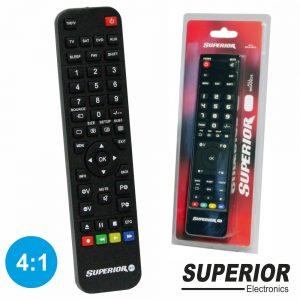Comando TV Programável 4:1 Superior - (SUP4:1RC)