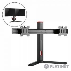"Suporte P/ 2 Monitores PC 17/27"" 2x 7kg PLATINET - (VDSGM)"