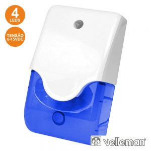 Sirene E Estroboscópio Azul Em Caixa C/ LED VELLEMAN - (SV/PSL3B)