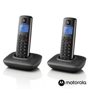 Conjunto 2 Telefones S/ Fios Preto T402+ MOTOROLA - (T402+)