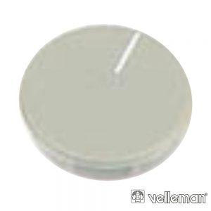 Tampa P/ Botão De 21mm Cinza C/ Linha Branca - (DK21GWS)