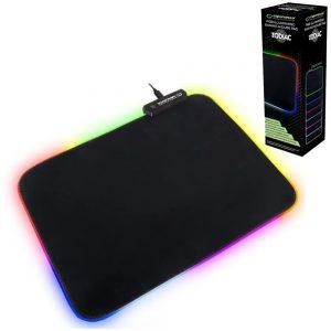 Tapete P/ Rato Gaming C/ LED RGB 35x25 Preto - (EGP105)