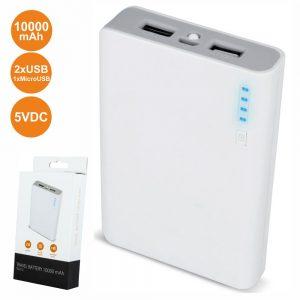 PoWerbank 10000ma C/ Ficha Micro USB 2USB - (TB-012)
