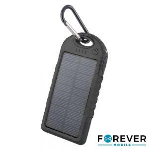 PoWerbank 5000ma Preto C/ Painel Solar E 2 USB - (TB-016BK)