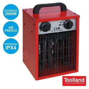Termoventilador Industrial 2000W Ipx4 TOOLLAND - (TC78069N)