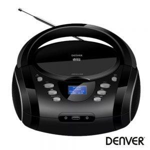 Rádio Portátil FM/CD/AUX/BT Colunas 2x1.8W DENVER - (TDB-10)