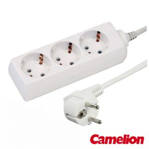Tomada Elétrica C/ 3 Saídas 1.5m Branco - (TE3SB1(C))