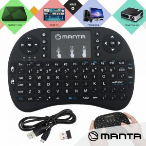 Teclado Touchpad S/ Fios USB 2.4ghz MANTA - (MKB001)