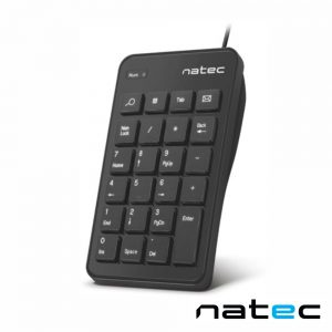 Teclado Numérico USB Portátil 23 Teclas C/ Cabo 1.45m NATEC - (NKL-1333)