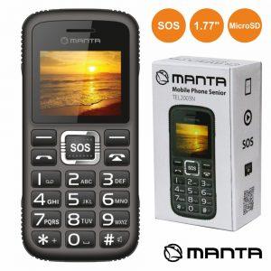 """Telemóvel P/ Séniores 1.77"""" Sos Micro Sd Manta - (TEL2003N)"""