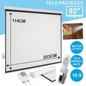 """Tela Projeção Elétrica Teto/Parede 92"""" - (TPE92)"""