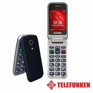 """Telemóvel 2.4"""" FM SOS Dual SIM Cinza TELEFUNKEN - (TM210S)"""