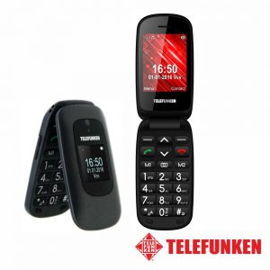 "Telemóvel 2.4"" FM SOS SIM Preto TELEFUNKEN - (TM250BK)"