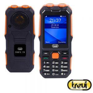 Telemóvel Anti-choque IP68 preto/laranja TREVI - (FORTEPLUS70-00)