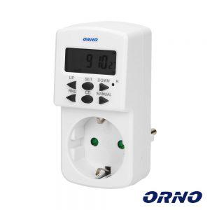 Temporizador Digital Ajustável 24h ORNO - (OR-PRE-428(GS))