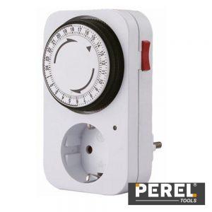 Temporizador Analógico Ajustável 24h PEREL - (E305D3-G)