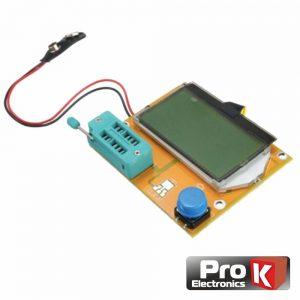 Testador De Componentes Esr Scr Mosfet C/ Visor PROK - (LCR-TESTER01A)