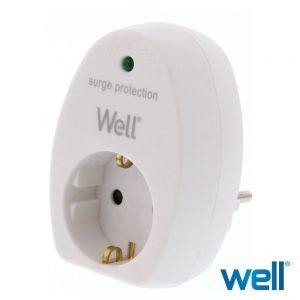 Tomada Elétrica c/ 1 Saída e Filtro Picos Branco - (ELAD-SH-PROT/01)