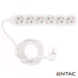 Tomada Elétrica C/ 6 Saídas 3M Entac - (ESEG6-3)