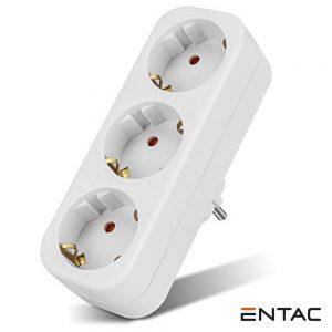 Tomada Elétrica C/ 3 Saídas Branco ENTAC - (EPAG-3EE)
