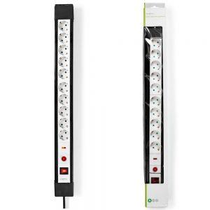 Tomada Elétrica c/ 10 Saídas Interruptor On/Off 3m NEDIS - (EXS103SPF1PRO)