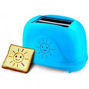 Torradeira Smiley 750W 3em1 C/ 7 Níveis E Gravuras Azul - (EKT003B)