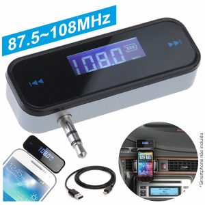 Transmissor FM 87.5-108mhz Ficha Jack 3.5mm Bateria - (TR-110)