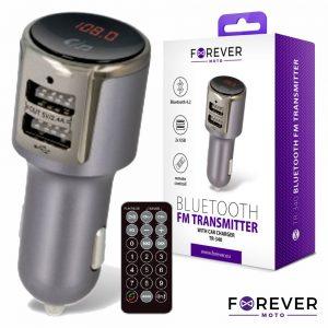 Transmissor FM Bluetooth V4.2 2USB F. Isqueiro FOREVER - (TR-340)