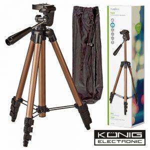 Tripé P/ Máquina Fotográfica/Filmar Em Alumínio Konig - (TPOD2000BZ)