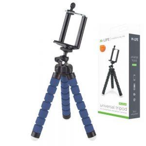 Tripé Universal flexível P/ Smartphone/Câmara Ação - (ML0624-BL)