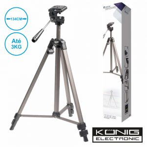 Tripé P/ Máquina Fotográfica/Filmar Em Alumínio Konig - (TRIPOD30N)