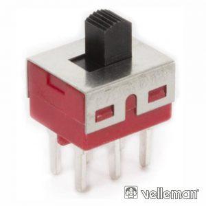 Comutador Deslizante 2p On-On - P/ Ci - (TS-11P)