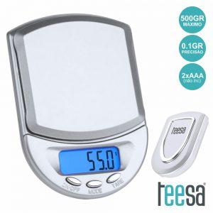 Mini Balança 500g / 0.1g TEESA - (TSA0803)