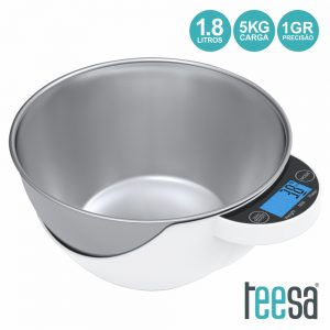 Balança Cozinha Digital 5kg C/ Recipiente 1.8l TEESA - (TSA0805)