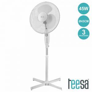 Ventoinha De Pé 45W C/ Temporizador 230V 43cm - (TSA8021)
