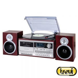 Gira-Discos 33/45/78RPM Retro 2x25W Cd/USB/SD TREVI - (TT-1072-DAB)
