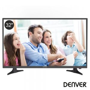 "TV LED 32"" HD 2 HDMI USB Dvb-T2/S2/C DENVER - (LED-3279)"