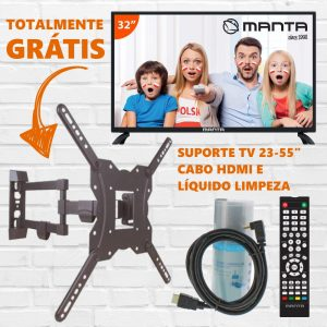 "TV Dled 32"" Hd 3 HDMI USB Dvb-T/C 2x8W C/ Oferta Suporte TV - (32LHN19S-PACK2)"