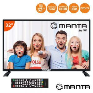 """TV LED 32"""" HD 3 HDMI USB Dvb-T/C MANTA - (32LHN69D)"""