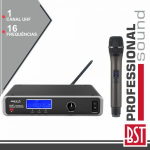 Central Microfone S/ Fios 1 Canal Uhf 16 Freq Cee BST - (UDR116)