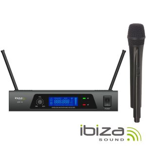 Central Microfone S/ Fios 1 Canal Uhf 864.90mhz IBIZA - (UHF10B)