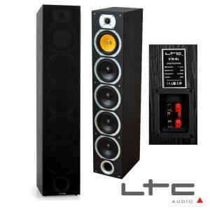 Conjunto 2 Colunas 4 Vias Home Theater Bass Reflex 440W Ltc - (V7B-BL)