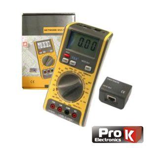 Multímetro Digital 3 Em 1 C/ Testador Redes/Linhas PROK - (VA16)