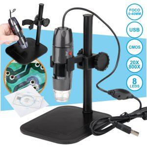 Microscópio Digital 2mp USB C/ Ampliação 20-800x - (VAMS8A)